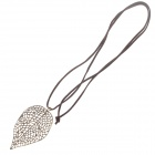 Fashionable Leaf Style Zinc Alloy Necklace for Women - Bronze + Brown