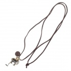 Fashionable Steam Engine Style Zinc Alloy Necklace for Women - Bronze + Brown