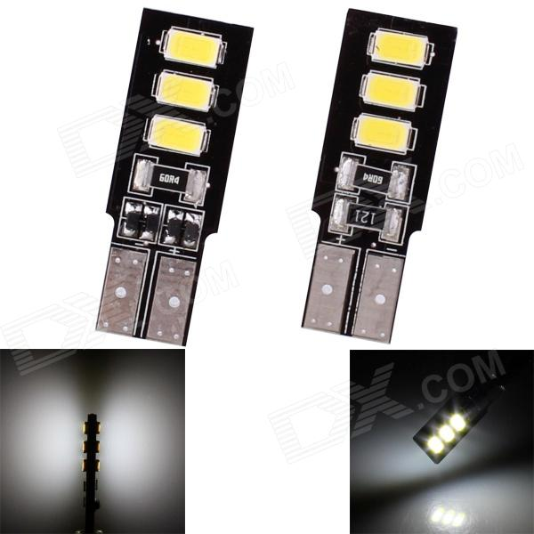 T10 3W 144lm 6 x SMD 5630 LED White Light Car Steering / Tail / Signal Light - (DC 12V / 2 PCS) m201301062 h3 4w 300lm 68 smd 3528 led white light car foglight tail light dc 12v 2 pcs