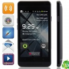 "un mini (E19) Android 2.3.6 GSM Bar Phone w / 4.0 "", quadri-bande, FM et Wi-Fi - Noir"