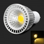 GU10 5W 350lm 3200K COB LED Warm White Spotlight Bulb - Silver + White (85~265V)