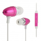 OVLENG iP710 Stilvolle In-Ear-Ohrhörer w / Mikrofon für Handy - Deep Pink + White