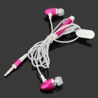 OVLENG iP710 Stylish In-Ear Earphone w/ Microphone for Cell Phone - Deep Pink + White