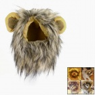 Pet Cat Lion Cosplay Wig - Brown + Yellow