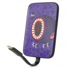 Ounuo 4000mAh Mobile Power Source Battery w/ Micro USB Cable for Samsung / HTC - Black + Purple