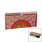 Retro Hand-Embroidered Women's Wallet - Multicolored