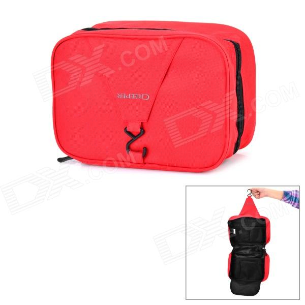 Creeper Portable Outdoor Travel 600D Oxford Body Hygiene Kit / Wash / Toilet Bag - Red