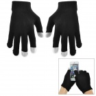 E10201 Stylish Touch Screen Warm Gloves - Black (Pair)