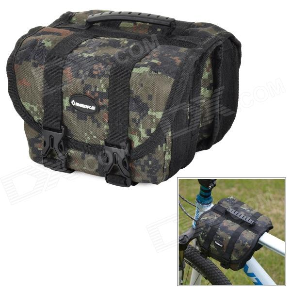 INBIKE Multifunction Waterproof Bike Top Tube Saddle Bag - Camouflage free shipping 2017 new oxford cloth motorcycle saddle bag helmet package moto saddle bag waterproof cover plastic plate
