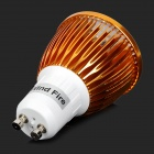 WindFire GU10 5W 300lm 3200K 5-LED Warm White Spotlight Bulb - Golden + White (85~265V)