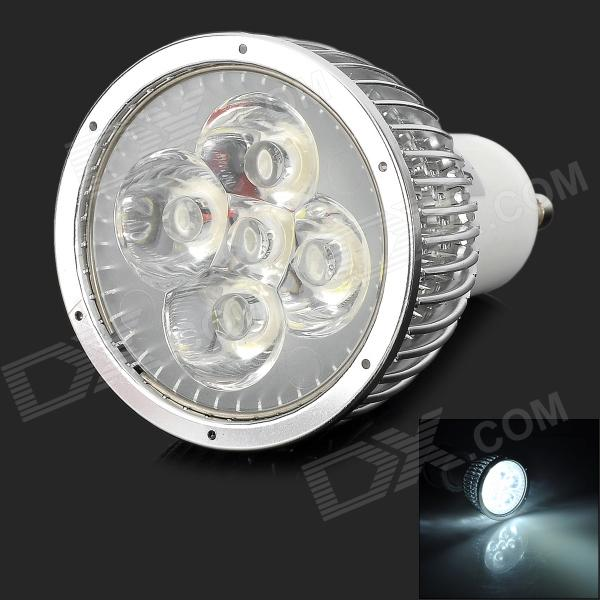 WindFire GU10 5W 300LM 6000K White Light LED Spotlight Lamp - Silver + White (85~265V) uitrafire 3wcob 3w 180lm 6000k gu10 white light led spotlight lamp silver white 85v 265v