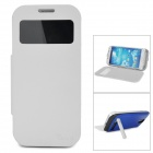 "External ""3200mAh"" Power Battery Charger w/ Case for Samsung Galaxy S4 i9500 - Blue + White"