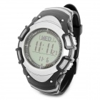FR8204A Multifunction Sport Digital Wrist Watch w/ Compass / Barometer + More - Black + Silver