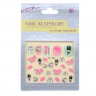 OC-13 DIY 3D Nail Art Stickers Set