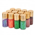 12-Color Plastic Nail Art Sequins Set