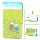 Glow-in-the-Dark Protective Plastic Back Case w/ Card Slots for Samsung Note 3 - Blue + Green
