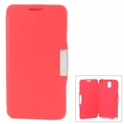 RS02 Protective Flip Open PU + Plastic Case for Samsung Note 3 N9000 - Red
