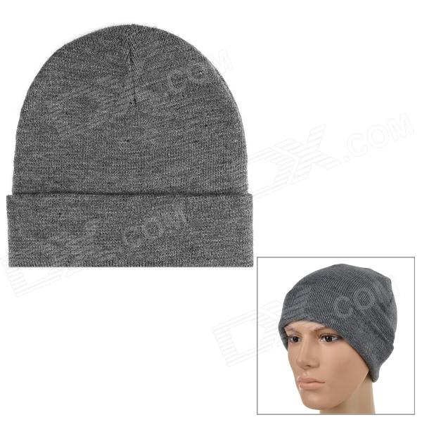 Free Soldier ZM39 Stylish Knitted Woolen Yarn Warm Hat for Skiing - Grey