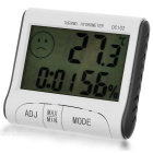 "DC102 Mini 3"" LCD Digital Thermometer Hygrometer - White + Grey"