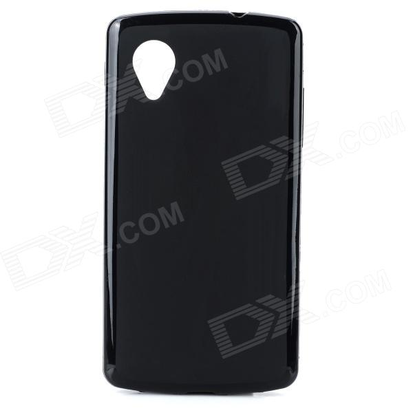 Protective TPU Back Case for LG Nexus 5 - Black protective silicone back case for lg nexus 5 translucent white