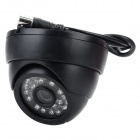 "HB-AL019S 1/3"" CMOS 420 Lines Ceiling CCTV Camera w/ 24-LED Night Vision - Black"
