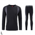Naturehike-NH Outdoor Sports Warm Underwear Suits for Men - Black (L)