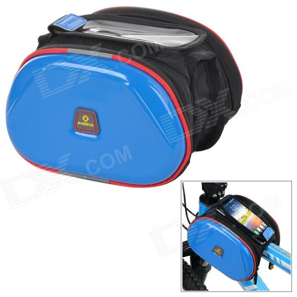 INBIKE Waterproof 2-in-1 Outdoor Bicycle Top Tube Double Bag - Blue coolchange waterproof bike bag frame front head top tube cycling bag double ipouch 6 2 inch touch screen bicycle bag accessories