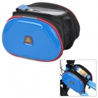 INBIKE Waterproof 2-in-1 Outdoor Bicycle Top Tube Double Bag - Blue