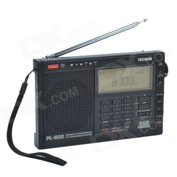 TECSUN PL-600 Digital Tuning Full-Band FM/MW/SW-SBB/AIR/PLL SYNTHESIZED Stereo Radio Receiver (4xAA) tivdio portable fm radio dsp fm stereo mw sw lw portable radio full band world receiver clock