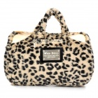 Wendong HQS-G106628 Leopard Skin Pattern Hand Bag Style Flannel Hot Water Electric Bag