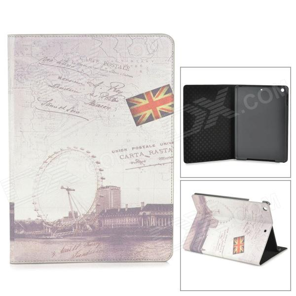 цена на Protective Vintage London Style PU Leather Smart Case for Ipad AIR - Beige + Deep Grey