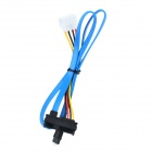 SAS 29pin / LP4 Male to SATA 7pin Male Data Power Cable - Blue + Multicolored (70cm / 150cm)