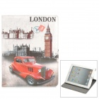 Protective Vintage London Car Pattern PU Leather Smart Case for Ipad 2 / 3 / 4 - Multicolored