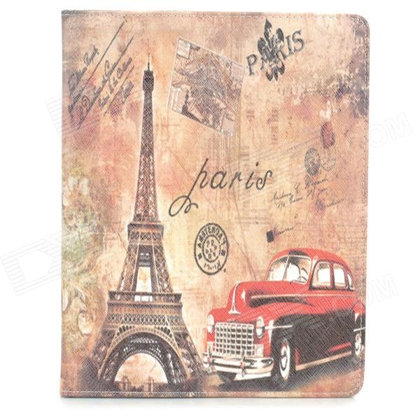 все цены на Protective Vintage Car Tower Pattern PU Leather Case for Ipad 2 / 3 / 4 - Multicolored онлайн