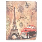 Protective Vintage Car Tower Pattern PU Leather Case for Ipad 2 / 3 / 4 - Multicolored