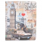 Protective Vintage London Style PU Leather Smart Case for Ipad 2 / 3 / 4 - Multicolored