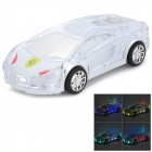 WS-980 Car Model Style Portable 2-Channel Speaker w/ FM / TF - White + Transparent + Black