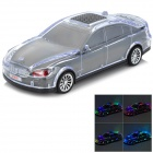 SD-770 Car Model Style 2-Channel RGB Light Speaker w/ TF / FM - Black + Transparent