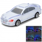 SD-770 Car Model Style 2-Channel RGB Light Speaker w/ TF / FM - White + Transparent + Black