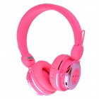 AT-BT804 Bluetooth V2.1 + EDR Stereo Headset - Fluorescent Pink