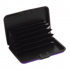 Stylish Aluminum Alloy Bank Card Wallet Holder Case - Purple