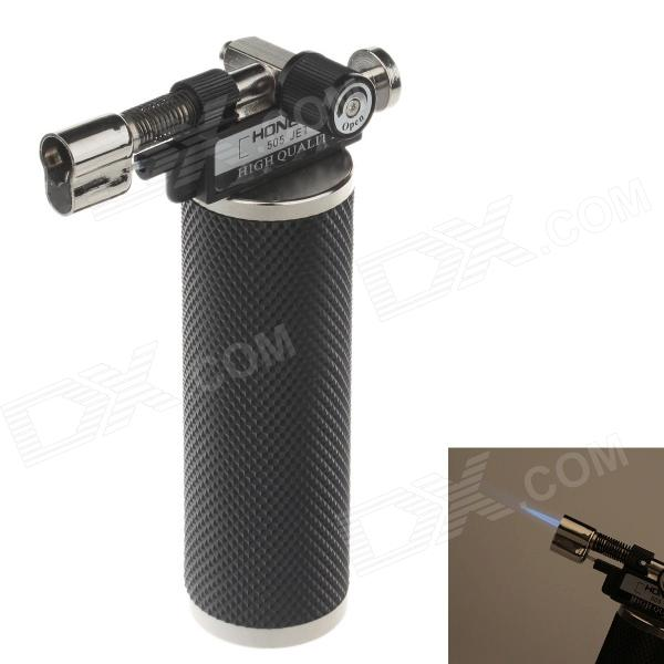 HONEST BCH505 High Quality Multi Purpose 1300'C Windproof Straight Lighter - Black + Silver