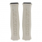 JAKROO CG04YW-056 Anti-Slip Sponge + Resin Cycling Grips Bicycle Bar End Handlebars - Beige (Pair)