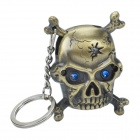 CHEERLINK Electronic Induction Skull Style Wind-Resistant Gas Jet Lighter w/ Keyring - Bronze
