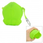 GEL100606 Cute Fish Style Silicone Wallet Coin Key Storage Bag - Green