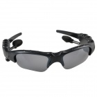 WHB-086 Stylish Bluetooth V3.0 Stereo Music Sunglasses w/ Handsfree - Black