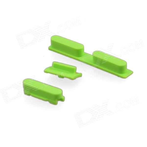 Replacement Volume Button + Mute Button + Switch Button for Green Iphone 5C - Green genuine iphone 4 repair parts replacement mute button volume button power button