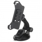 H80 360 Degree Rotation Suction Cup Holder w/ Back Clip for Iphone 5 / 5s - Black