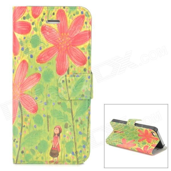 Stylish Patterned Flip-open Glow-in-the-dark PU Case w/ Holder + Card Slot for Iphone 5 / 5s / 5c 28 in 1 game memory card case holder storage box for nintendo 3ds xl