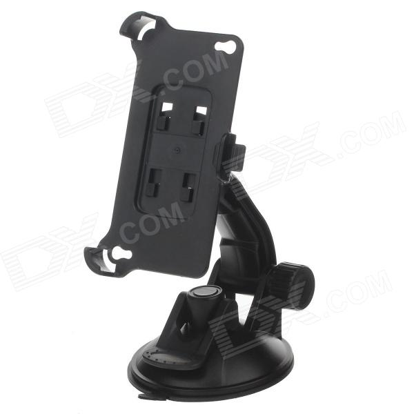 H80 360 Degree Rotation Suction Cup Holder w/ Back Clip for Iphone 4 / 4S - Black h08 360 rotation 4 port suction cup holder w silicone back clip for iphone 4 4s 5 ipad mini ipod